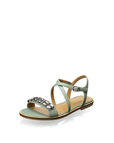 Enzo Angiolini Women's Jewelana Flat Sandal  [Black/Black]