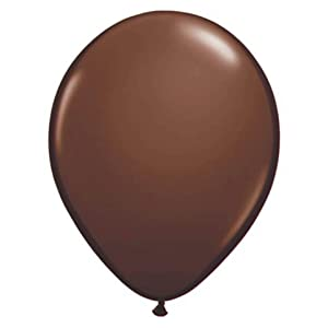 "Brown 12"" Latex Balloon 15 Count by Unique"