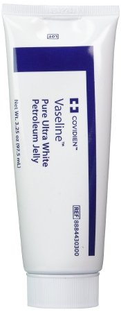 3 Pack Medical Grade Vaseline Pure Ultra White Petroleum Jelly, 3.25 oz (97.5 mL) Tubes ONLY by Kendall/Covidien (Curad Petroleum Jelly Tube compare prices)