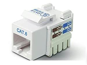 25pk Cat6 White Keystone Jack568a/568b Chnl Cert from BELKIN