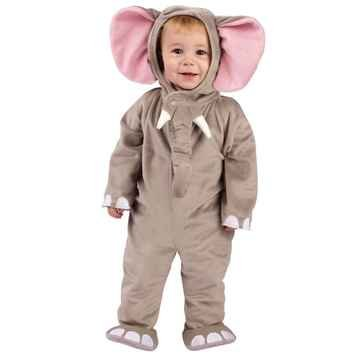 Cuddly Elephant Infant Costume (As Shown;18-24 Months)