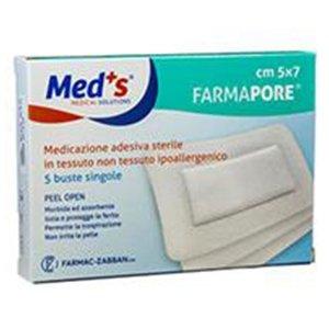 Farmac-Zabban Meds Pore Medicazione Adesiva Sterile Tnt 5x7 cm 5 Pezzi