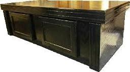 R&J Enterprises ARJ40408 Xtreme Series Oak Wood Aquarium Canopy, 48 by 18-Inch, Black