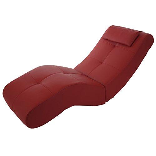 Relaxliege-Livorno-II-Recamiere-Chaiselongue-Kunstleder-rot
