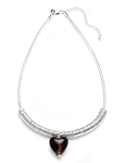 M&S Collection Silver Plated Heart Pendant Necklace