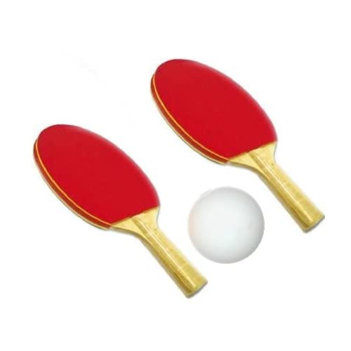 2 Standard Sponge Rubber Ping Pong Paddles with Ball, Table Tennis Racquets Bat, 2 player set