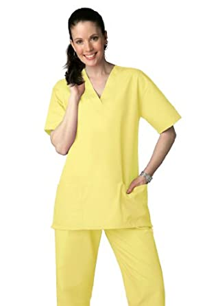 Adar Universal Unisex Drawstring Scrub Set (Available in 39 colors) - 701 - Banana - XXS