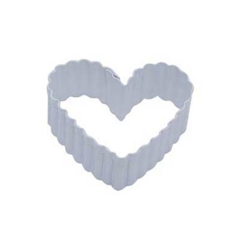 Dress My Cupcake DMC41CC114SET Heart Fluted Cookie Cutter, 2.5-Inch, White, Set of 12