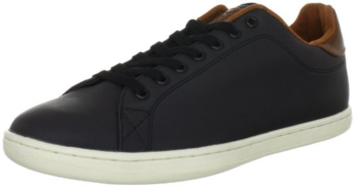 JACK & JONES JJ Brooklyn PU JI Trainers Men black Schwarz (BLACK) Size: 9 (43 EU)