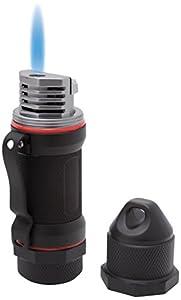 Visol Storm High Altitude Wind Resistant Lighter, Black Matte