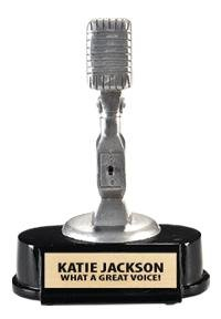 Microphone Trophy -- Microphone Trophies -- Singing Trophy