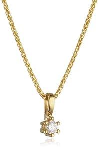 Bella Donna Damenkette 585/000 Gelbgold 1 Brillant 0,10ct. weiß lupenrein 45cm 634602
