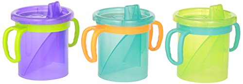 Evenflo Feeding Tripleflo Tilty Trainer Cups, Multi Color, 7 Ounce (Tilty Cup compare prices)