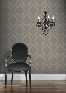 Classics Regency Damask Wallpaper - Taupe by New A-Brend