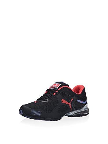PUMA Women's Cel Riaze EM Black/Bleached Denim/Cayenne Sneaker 7 B (M)