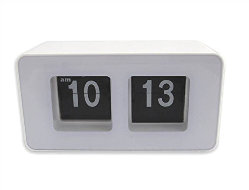 Thumbs Up! Retro Flip Clock, White
