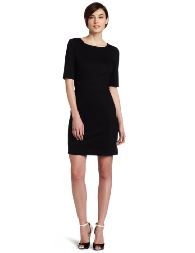 Trina Turk Women's Edison Seamed Bodice Dress, Black, 0
