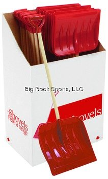 Red Snow Shovel for Young Kids