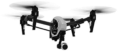 DJI DJIIN1R Inspire 1 Aerial UAV Quadrocopter Drohne mit Integrierter 4K, Full-HD Videokamera, Digitaler Fernsteuerung schwarz/weiß