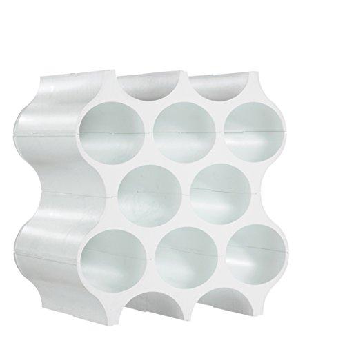 Koziol 3596525 Porte-Bouteilles Matière Thermoplastique Blanc 23 x 35,3 x 36,4 cm