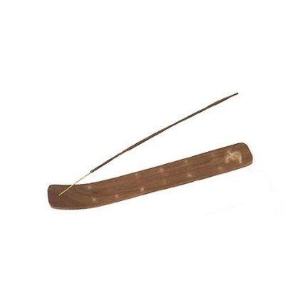 2 x soporte para bastón incensario de madera tallada con incrustaciones en latón (latón, 2)
