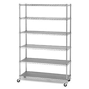 Amazon.com: Commercial Chrome Steel Wire Shelves NSF Shelving 48