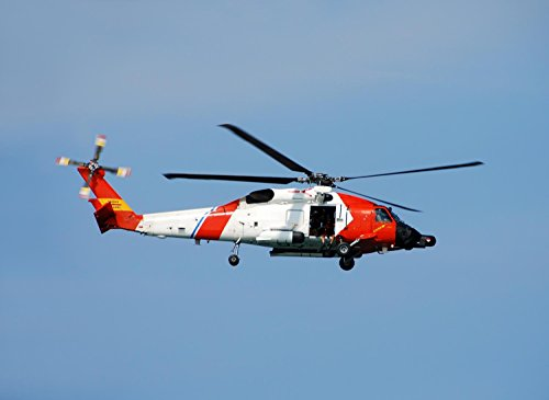 Coast Guard Helicopter Wall Decal - 30 Inches W X 22 Inches H - Peel And Stick Removable Graphic front-781265