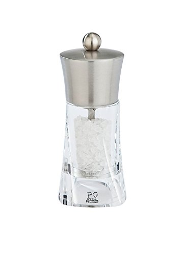 Peugeot Ouessant Acrylic And Stainless Steel Salt Mill, 14Cm/5-1/2-Inch front-162704