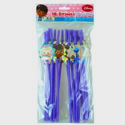 Disney Doc Mcstuffin Straws 18Ct