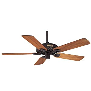 outdoor original 52 inch 5 blade etl damp rated cast iron ceiling fan