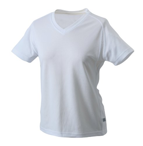 James & Nicholson Women's Running T-shirt - White, XL