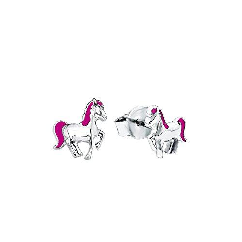 prinzessin-lillifee-kinder-ohrstecker-pferde-madchen-925-silber-rhodiniert-emaille-pink-7-mm