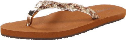 Reef Girls' Reef Little Twisted Thong Sandals Beige Beige (Tan/Champagne) 31-32