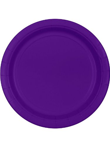 Purple Paper Dinner Plates (20 per package) - 1