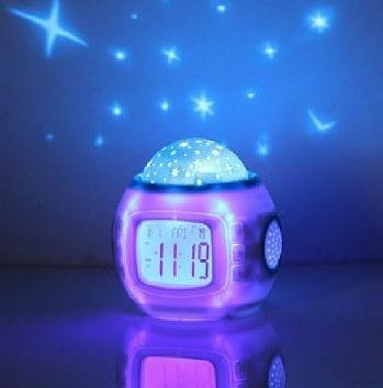Music Lamp Projection Calendar Clock With Backlight Music Alarm Clock
