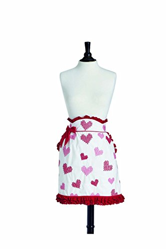 Jessie Steele Limited Edition June Cross Stitch Hearts Hostess Apron, only 500 made. (Jessie Steel Aprons compare prices)
