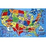 Fun Time Travel Fun 8'x11' Play Time Nylon Area Rug FT-133 0811