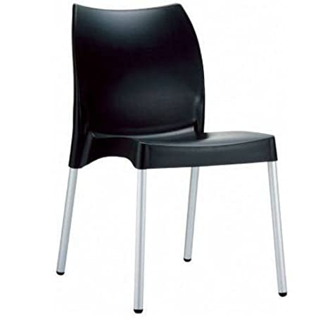 La Plaza Vita Stacking Dining Side Chair [Set of 2] Finish: Black