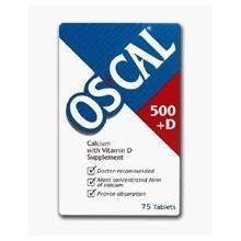 Os-Cal 500 +D Tabs 75'S