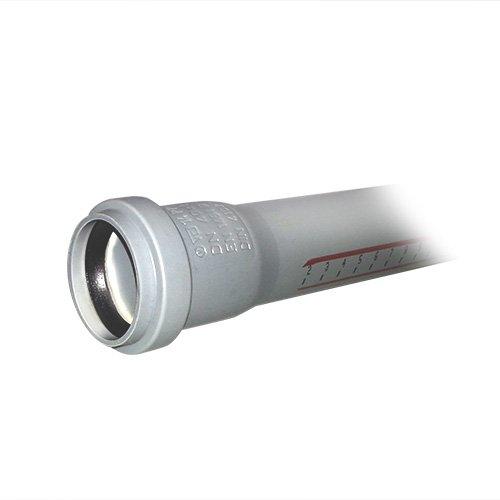 HT - Rohr Länge 250 mm mit Muffe NW 40 / HTEM Abflussrohr / Verbindungsrohr / Abwasserrohr / HT-Rohre
