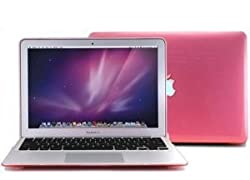 """Matte Hard Shell Cover Case for 13.3"""" A1369 & A1466 Apple MacBook Air - Pink"""