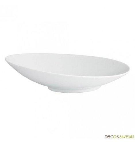 Viejo valle - Assiette à pâtes porcelaine blanche oblique (x1) - Assiette