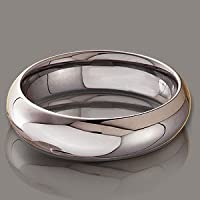 5.5 MM TUNGSTEN CARBIDE DOMED BAND HIGH POLISHED SCRATCH RESISTANT