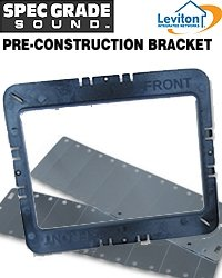 Leviton Pci80-Kit Pre-Construction Kit For 8-Inch In-Wall Speakers, Black