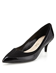 Autograph Leather Pointed Toe Water Repellent Wide Fit Court Shoes with Insolia®