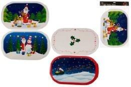4 Christmas Vinyl Table Mats - Assorted Designs Ideal Christmas Tableware