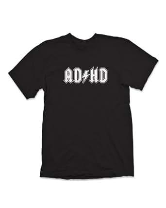 'AD-HD' T-Shirt Inspired By AC-DC - Black (XXL)