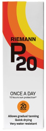 tan with sunscreen:Riemann P20 Once a Day 10 Hours Sun Protection - SPF20 Medium (100ml)