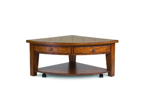 Buy low price magnussen darien pie shaped lift top coffee table me2879 coffee table bargain Pie shaped coffee table