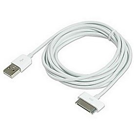 Ziotek ZT1311541HC1 10-Feet Iphone/Ipod Sync And Charge Cable, White